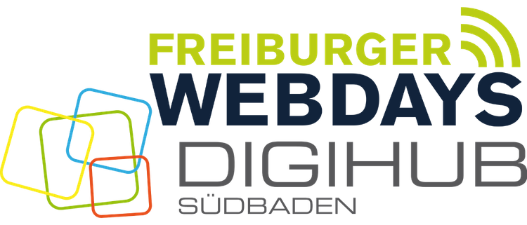 Logos Kooperationspartner DIGIHUB Südbaden und Freiburger Webdays 2019
